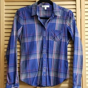 Love, Fire Button Down Plaid Shirt